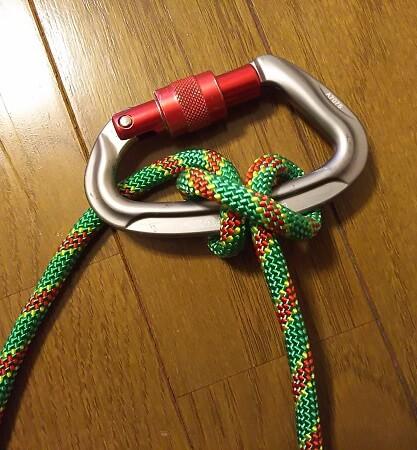 沢登り初心者装備 ロープのマスト結び インクノット