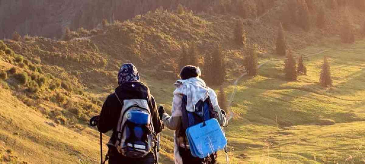 登山初心者サークルの友人とtrekking中 ピクサベイ