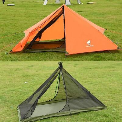 トレッキングポールのテント geartopのワンポールテント