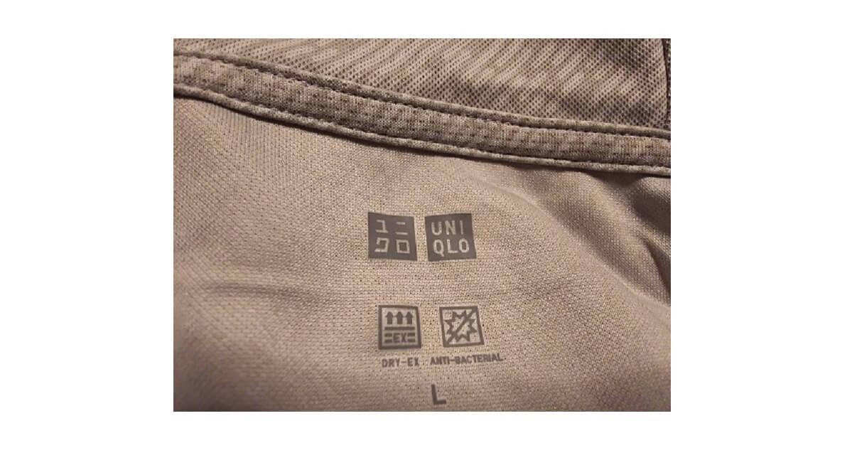 ユニクロパーカの表示ロゴ