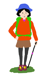 女性の登山家(出典:無料イラスト配布サイトマンガトップ