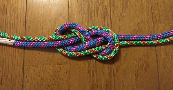 ロープ同士を結ぶ エイトノット