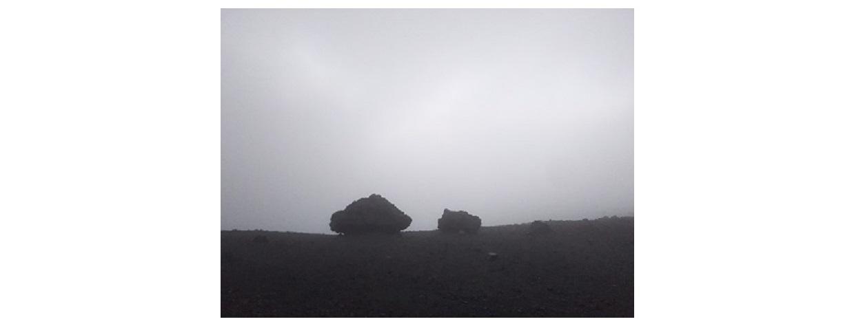 安達太良山山頂 日の出