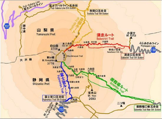 富士山地図