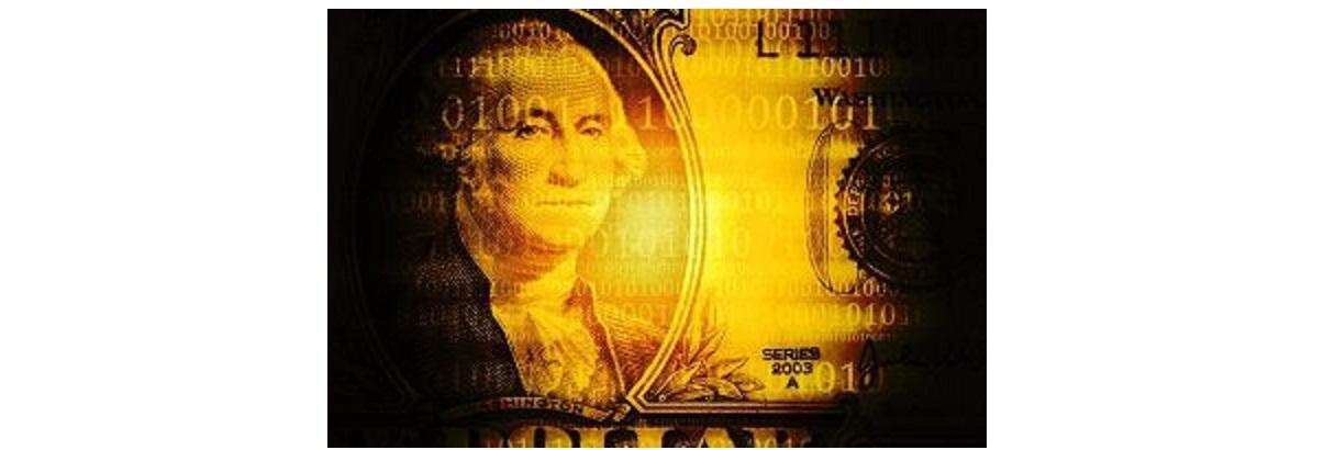 金のドル紙幣