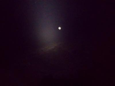 安達太良山 月明り