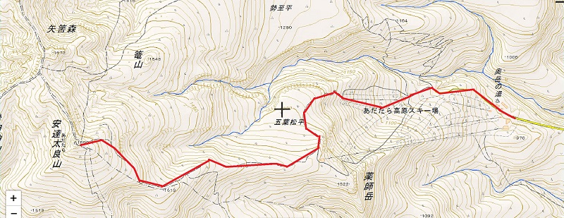 図面 安達太良山ゴンドラコース