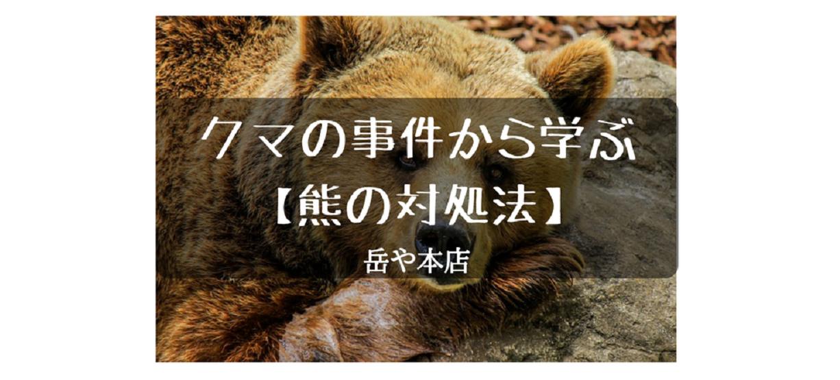熊の対処法