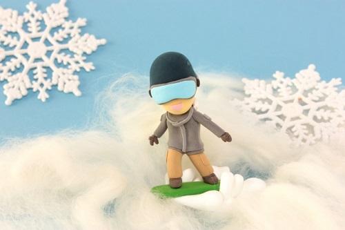 スノーボードの人形