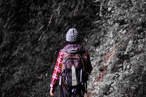 ハイキングとリュック