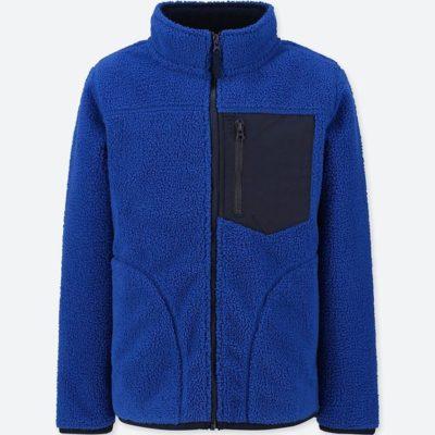 ユニクロ BOYS 防風フリースジャケット