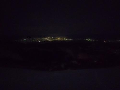 安達太良山 下界の灯り