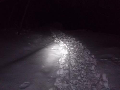 安達太良山 登山客の足跡