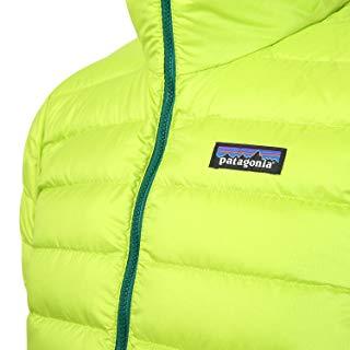 Patagoniaダウンセーター 胸の部分のアップ