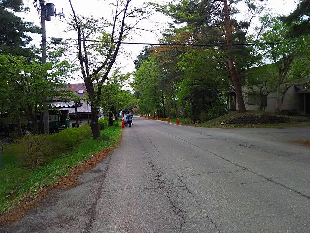 アクアマリン猪苗代 かわせみ水族館 前の道路