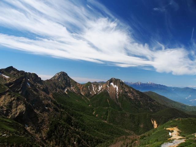 八ヶ岳連峰と南アルプス