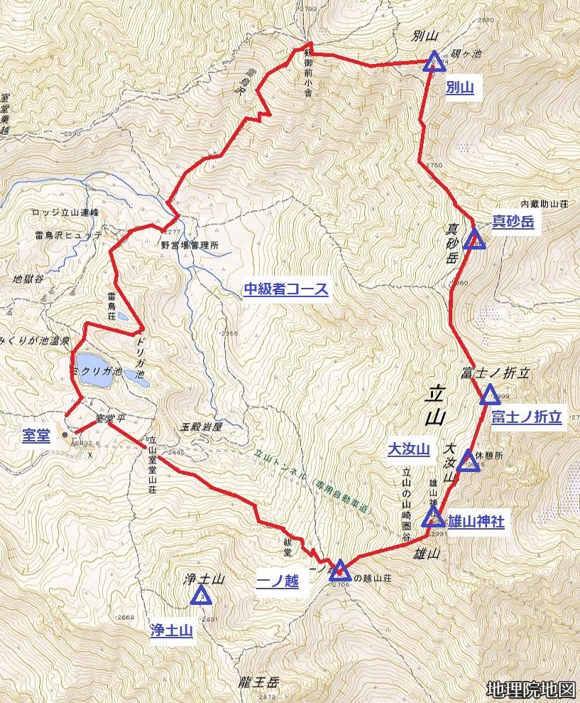 立山 中級者コース