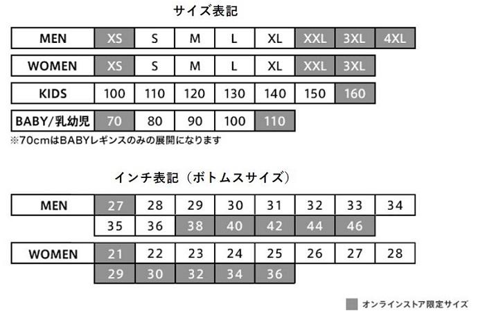 ユニクロサイズ表