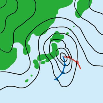 登山の天気 天気図