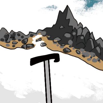 山とピッケル