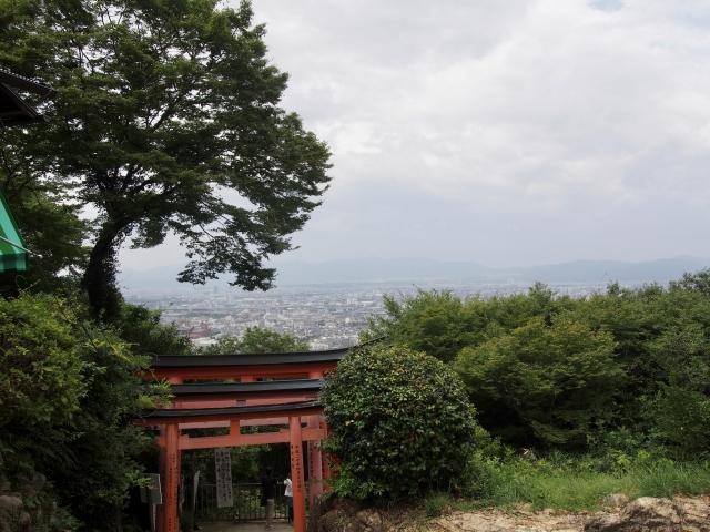 伏見稲荷山 山頂からの景色