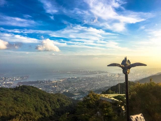 六甲山登山 掬星台からの景色