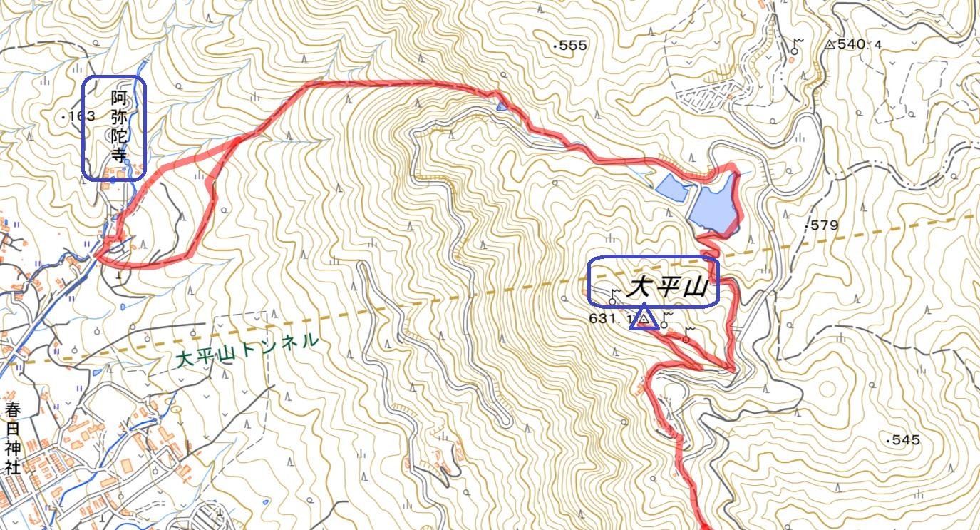 防府市 大平山 阿弥陀寺コース