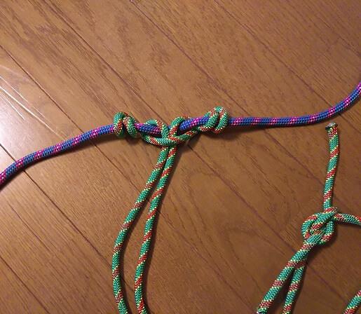 沢登り初心者装備スリングでプルージック結びのやり方