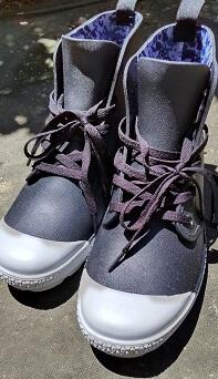 ワークマン 登山靴 サファリシューズ 前から見た画像(2) s