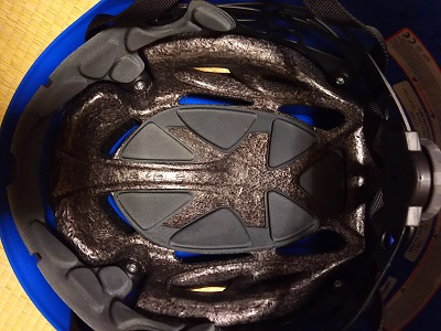 登山用ヘルメット ブラックダイヤモンド ハーフドーム 青 の内側