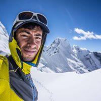 山岳スキー中のキリアンジョルネ
