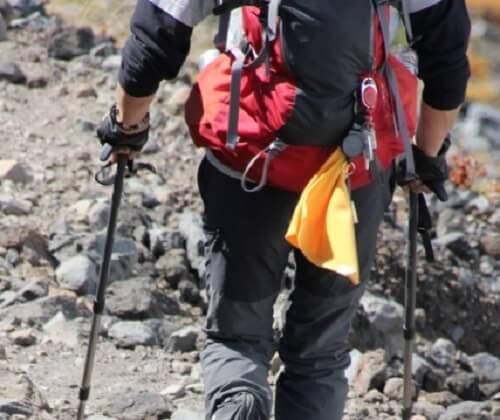 登山のパッキングをしっかりやった登山者の歩き方
