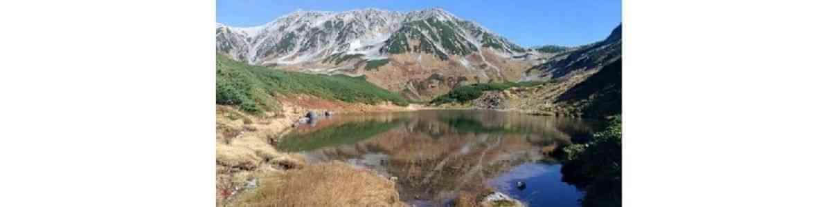 立山 みくりが池 立山連峰