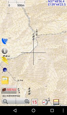 登山アプリ 地図ロイド 詳細画面
