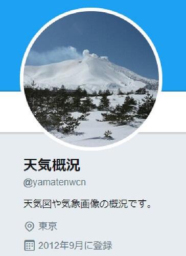 ヤマテンTwitter 天気概況のトップページ画像