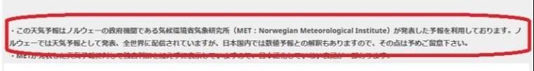 山の天気 登山の天気予報 mikketa天気 の注意点 Norwegian Meteorological Institute