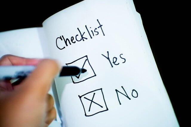 登山パッキングでもっていくか行かないか決めるチェックリスト