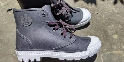 ワークマン 登山靴 サファリシューズ 横からの画像  (6) s