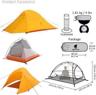 一人用テント おすすめ 安い geartop ソロテント