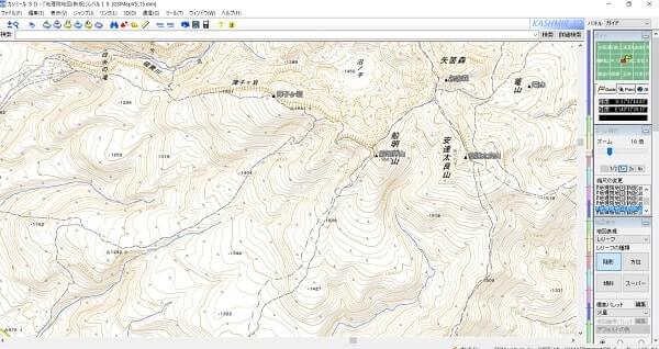 登山初心者 地図  カシミール