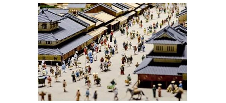 江戸時代の町並みの模型