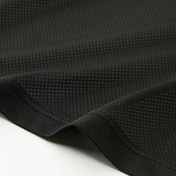 ユニクロ エアリズムメッシュクルーネックT(半袖 メンズ 素材近景