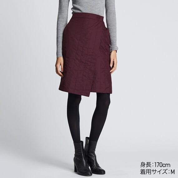 uniqlo 防風ウォームイージーラップスカート