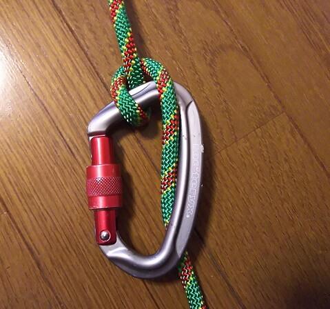 沢登り初心者装備ロープの半マスト結び ムンターヒッチ イタリアンヒッチ