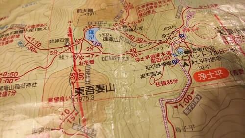登山 初心者おすすめ山と高原地図 磁北線